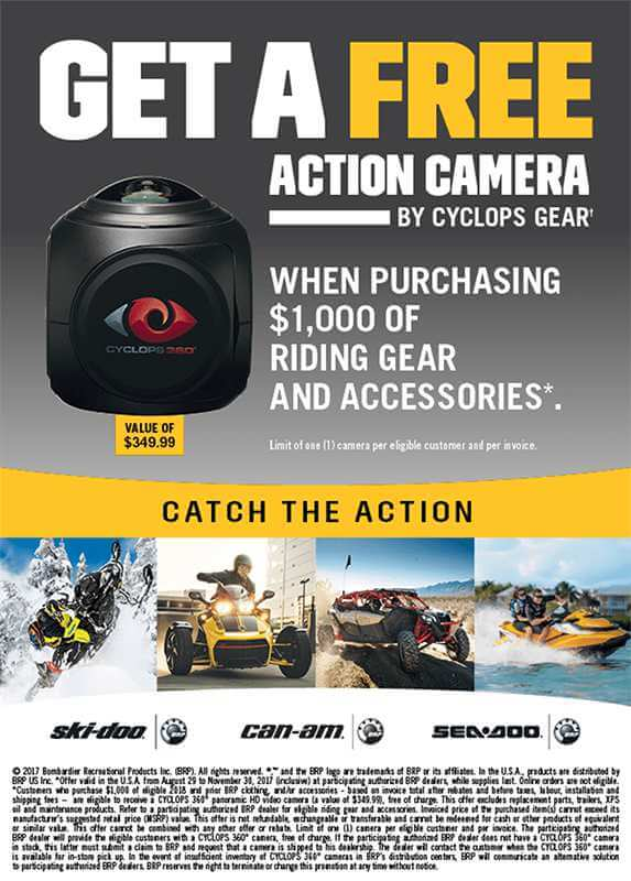 Get A Free Action Camera by Cyclops Gear